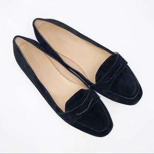 J.Crew Charlie Penny Loafer Luxe Suede Black Sz 9